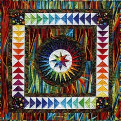 """Happiness"" quilt by Jacqueline de Jonge of The Netherlands: http://www.becolourful.nl/quilts/36/quiltstart.htm"
