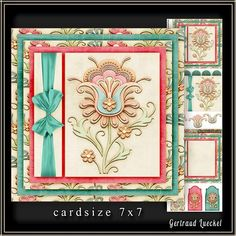 Cardtopper 7x7 with inlet soft Flower 221 on Craftsuprint - View Now!