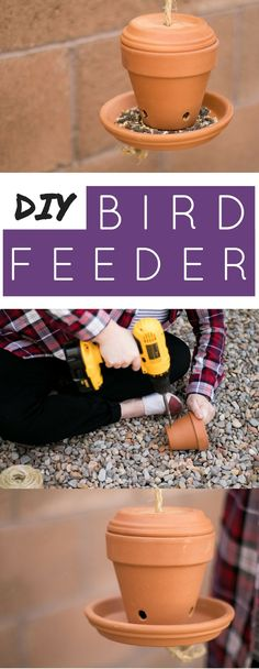 Easy DIY Bird Feeder! Make a bird feeder this spring. Bird feeders are the perfect home project for spring.