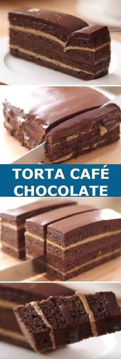 "Torta de café con Chocolate my Coffee Cake & Chocolate "" By HidaMari Cooking "" Si te gusta dinos HOLA y dale a Me Gusta MIREN … Cheesecake Recipes, Dessert Recipes, Cream And Fudge, Delicious Desserts, Yummy Food, Gateaux Cake, Cakes And More, Coffee Cake, No Bake Cake"