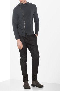Emporio Armani Men Knit Jacket - FULL ZIP KNIT JACKET