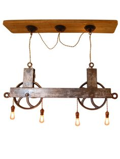Vintage Pulley Light