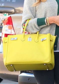 The Hermes Birkin - Yellow on Pinterest | Hermes Birkin, Hermes ...