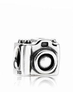PANDORA Charm - Sterling Silver Camera  Bloomingdale's