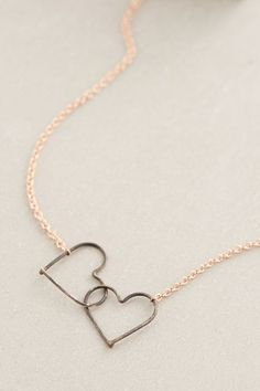 Kissing Hearts Necklace - anthropologie.com #anthroregistry