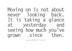 moving on