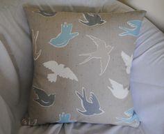 """18"""" cushion using clarke & clarke fabric  find www.facebook.com/habercraftey"""
