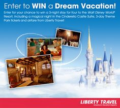 Enter to win a magical family vacation for 4 in Orlando, Florida thanks to @Liberty Travel!