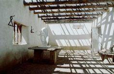 Georgia O'Keeffe's house in Abiquiu, New Mexico by Georgia O'Keeffe. Artwork Type: Other; Georgia O'keeffe, Interior Exterior, Interior Architecture, Interior Design, Wabi Sabi, Abiquiu New Mexico, New Mexico Homes, Mexico House, O Keeffe