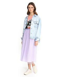 Романтичная #юбка пастельного оттенка всегда интересно смотрится с вещами в другом стиле. Например, вы можете заправить внутрь футболку, накинуть свободную светлую джинсовую куртку, а привычные лодочки заменить кедами. #berezka #new #ss16 #RedValentino #TaraJarmon #AliceOlivia #berezkaonline Ss16, Duster Coat, How To Make, Jackets, Fashion, Down Jackets, Moda, Fashion Styles, Jacket