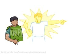 The angel tells Philip to go to the desert. From the Bible story PowerPoint presentation 'Philip & the Ethiopian'.