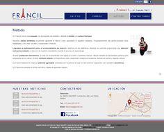"Site ""Francil"" - Page Methodologie"