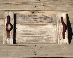 Rustic Reclaimed Wood Trays with Genuine Leather by LovelyWeeds, $25.00