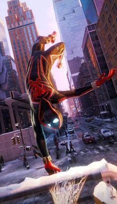 Miles Spiderman, Miles Morales Spiderman, Black Spiderman, Spiderman Movie, Amazing Spiderman, Marvel Comics Art, Marvel Heroes, Herobrine Wallpaper, Siper Man