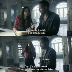 The Magicians - Margo Hanson: If it wants blood, I got blood. It's shark week. The Magicians Margo, The Magicians Syfy, All Tv, Netflix, Buffy The Vampire, Tv Show Quotes, Shark Week, A Whole New World, Music Tv