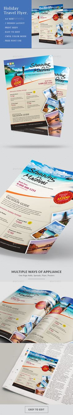 Travel Vacation Tourism Flyer Template PSD | Buy and Download http://graphicriver.net/item/travel-flyer/16051847?ref=themedevisers