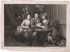Lewis Walpole Library Digital Collection: long sleeves on the printed gown on left, 1771