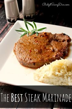 The BEST Steak Marinade Recipe, hands down the best recipe you will find! Everything you need for the recipe is already in your pantry! PLUS is costs only pennies to make.