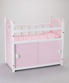 Pink & White Wooden Changing Table