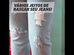 Como desfiar e rasgar calça jeans em casa: 5 jeitos MUITO fáceis de fazer - Vix
