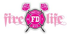 Fire Life Firefighters Wife Decal, Fire Life by Firefighter.com