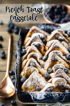 French Toast Casserole: make it the night before! -Baking a Moment French Toast Casserole: make it the night before! -Baking a Moment French Toast Sticks, French Toast Bake, French Toast Casserole, What Is French Toast, Make Ahead Brunch, Brunch Recipes, Brunch Ideas, Quiche Recipes, Cake Recipes