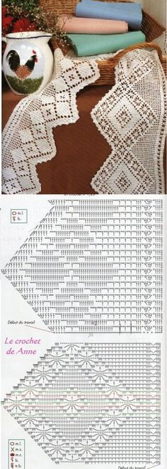 Filet crochet  Ganchillo punto de red