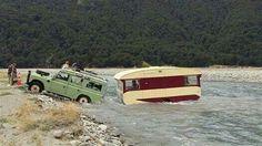 Land Rover 109 Series II A STATION WAGON safari top...trailer caravan crossing the river os life...marvellous adventure. Lobezno