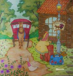 Book: Romantic Country - The Third Tale #romanticcountry #eriy #coloring #coloringbook #coloriage #adultcoloringbook