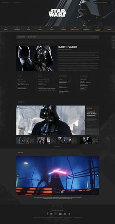Sw db darth All Website, Website Layout, Web Design Inspiration, Design Ideas, Web Box, Interactive Websites, Site Design, Storytelling, Desktop