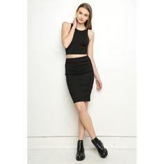Morrison Skirt (30 CAD) ❤ liked on Polyvore featuring skirts, elastic waist pencil skirt, elastic waist skirt, bodycon skirt, stretch pencil skirt and knit pencil skirt