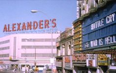 Fordham Road in the Bronx, New York. Alexander's was the best. Back to school sales