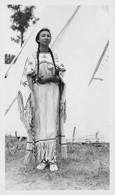 Warrior - Audrey, Assiniboine Nakoda, Wolf Point, Montana by Montana State University Library, via Flickr