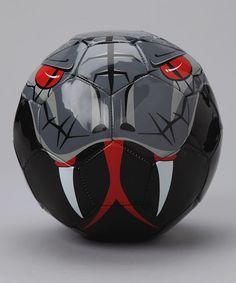 Silver & Black Snake Soccer Ball by Vizari on #zulily