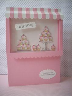 Stampin' Up! - pink cupcake birthday