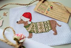 Hey, I found this really awesome Etsy listing at https://www.etsy.com/uk/listing/273526014/cross-stitch-pattern-christmas-sausage
