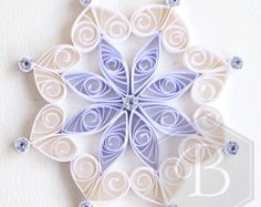 Ornate holiday snowflake ornament Christmas by TheBeehiveHandmade