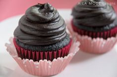 chocolate cupcake food photography
