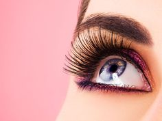 Image detail for -Eyelashes are hair that grow from the tip of the eyelids. These eyelashes protect the eyes from dust particles that enter the eyes. Eyelashes make your eyes look more . Get Long Eyelashes, How To Grow Eyelashes, Longer Eyelashes, Permanent Makeup Eyebrows, No Eyeliner Makeup, Hair Makeup, Purple Eyeliner, Eye Brows, Prom Makeup