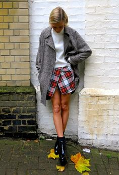 """Pinned from Pinterest user: chicagoinparis From """"Ways to Wear it: Plaid"""" Board. Great fashion tips customized by each article of clothing in your wardrobe."""