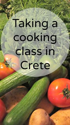 During our cooking class in Crete we made zucchini and Greek cheese pie, a Greek salad, spanakopita triangles and lamb with egg-lemon sauce. Delicious Greek dishes!: