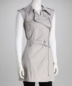 Love this Monoreno Silver Gray Belted Tunic on #zulily! #zulilyfinds