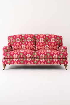 Bougainvillea couch raspberry + green +light coral