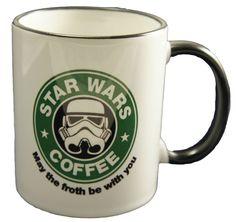 Celebrating Star Wars Day today! May the Fourth be with You! :: Star Wars, Starbucks Coffee parody MUG.