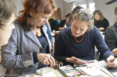 Irina and Eliza. Course: Inpainting & Loss Compensation on Paper. Conservation, Paper, Amsterdam, Conservation Movement, Canning