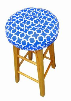 Charmant Round Indoor / Outdoor Barstool Cover With Padded Cushion And Drawstring  Yoke   Hockley Geometric Pattern