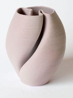 Amethyst porcelain loops vase
