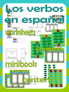 Learning in Spain: Verbs unit Dual Language Classroom, Spanish Classroom, Teaching Spanish, Spanish Grammar, Worksheets, Verbs List, Place Value Activities, Spanish Immersion, Sixth Grade