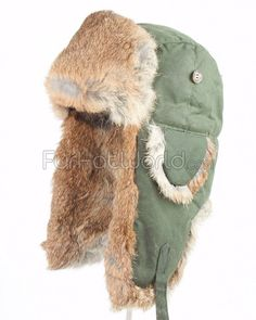 Green Waxed Cotton Mad Bomber® Hat Winter Accessories fc045ea7222a