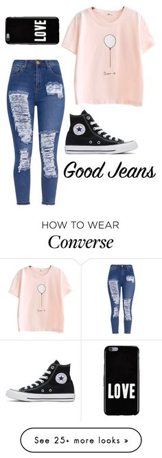 """""""Distressed denim"""" by mieczyslaws on Polyvore featuring Converse and Givenchy"""